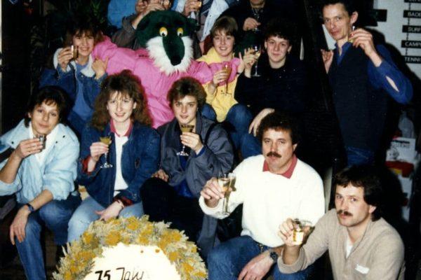 Das Team im Jubiläumsjahr 1986
