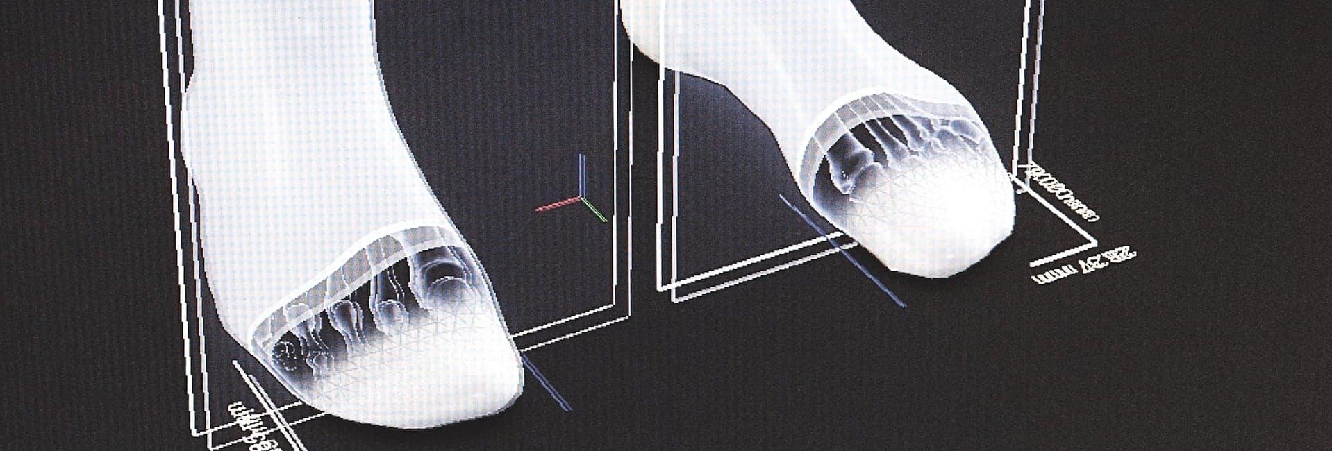 3D-Fußscan für Laufschuhe