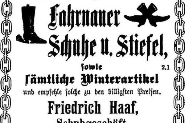 Anzeige von 1912
