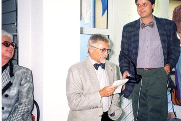 Architekt Dieter Poppe und Raimund Haaf bei der Eröffnungsfeier