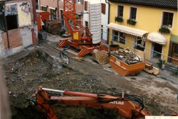 Die Baugrube 1992