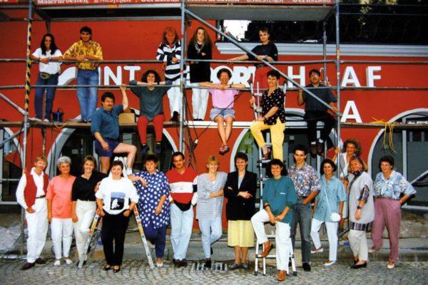 Das Team bei der Neueröffnung 1993