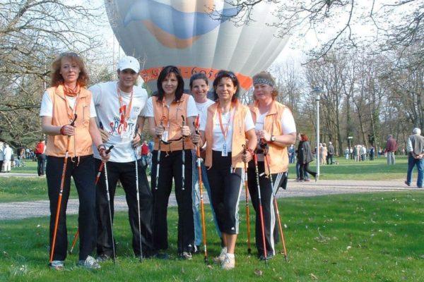 Das erste Nordic-Walking-Team