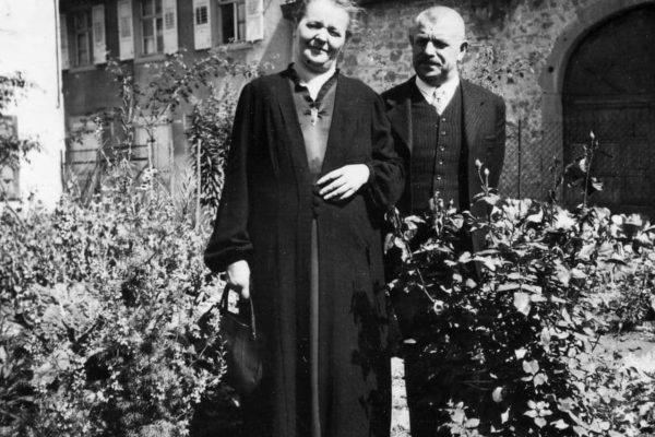 Das Ehepaar Friedrich und Agahte in späteren Jahren