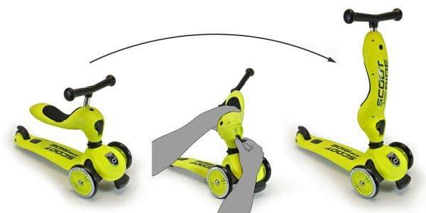 Roller und Laufrad in einem: Verwandelt sich mit einem Handgriff
