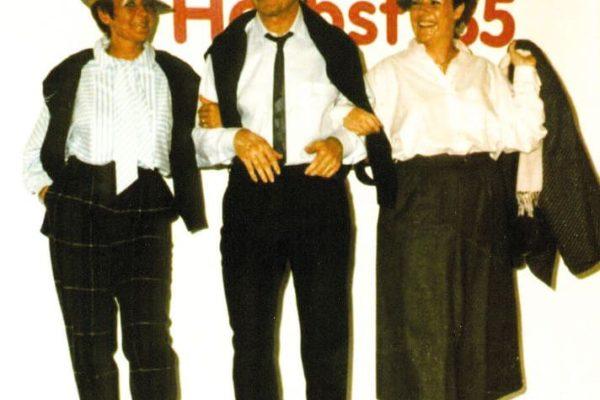 Modenschau mit Hannes Kircher 1985