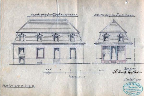 Plan des Hauses Melber von 1907
