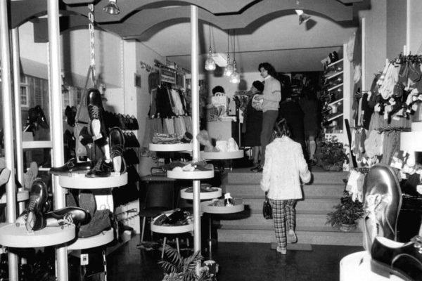 Schuhabteilung 1971