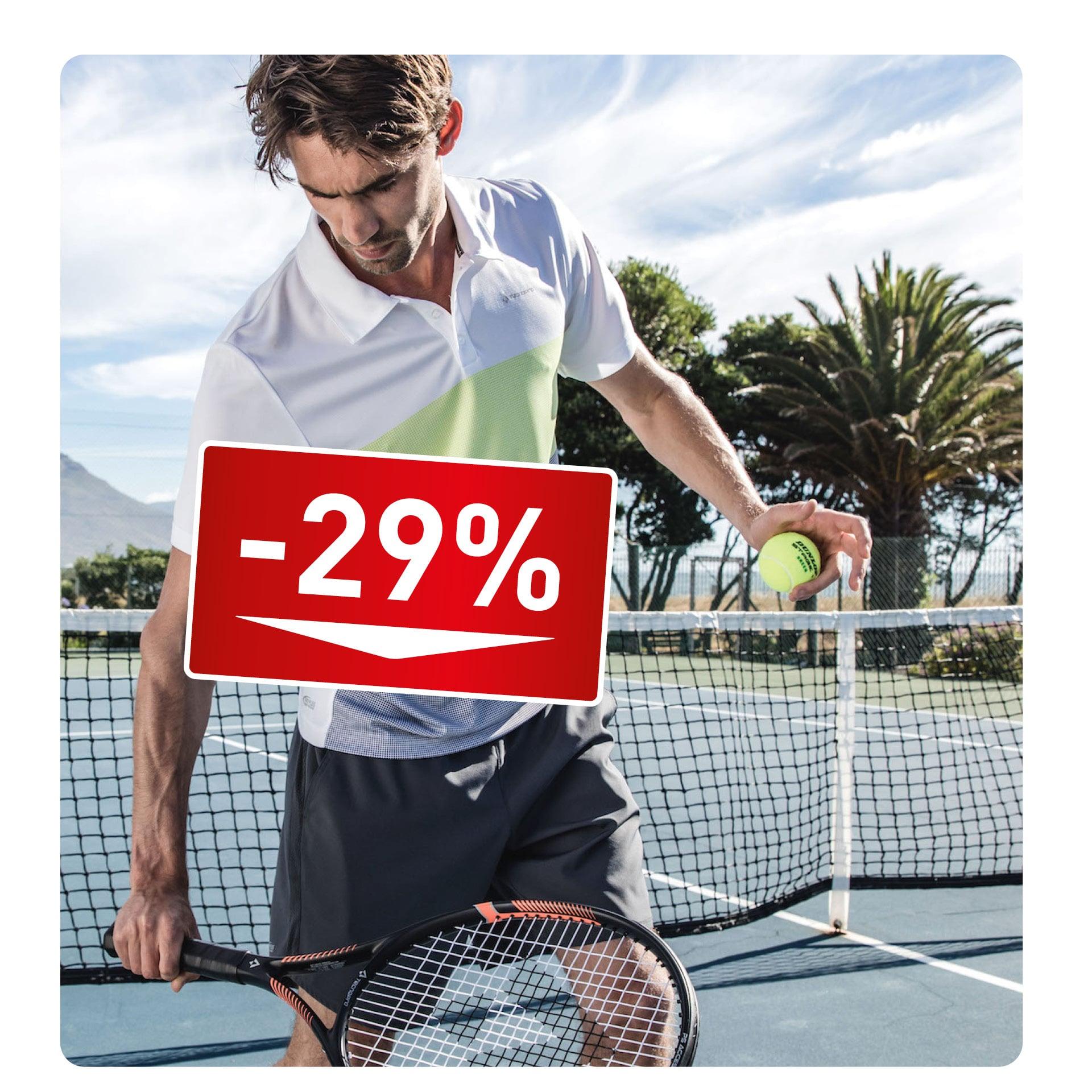 TENNISBÄLLE + SAITE -29%