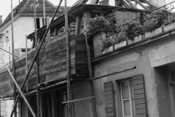 Umbau in der Hauptstraße 1957